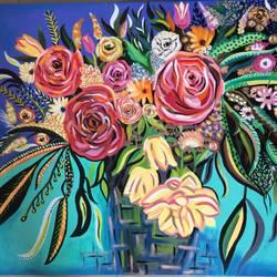 Flower Burst size - 30x24In - 30x24
