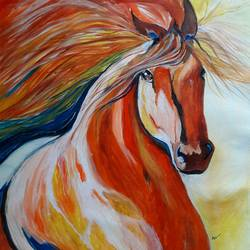 Abstract Art - Horse size - 18x19In - 18x19