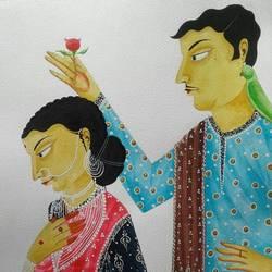 Babu and Bibi in Romantic Mood size - 12x15In - 12x15