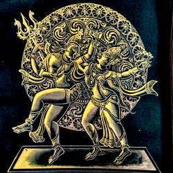 Shiva as Natraj in Dancing Posture  size - 18x24In - 18x24