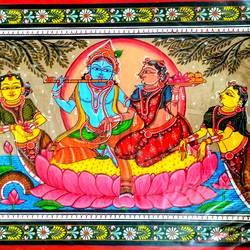 Krishna Rasleela 3 size - 18x12In - 18x12