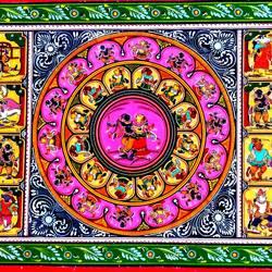 Krishna Rasleela With Story  size - 18x12In - 18x12