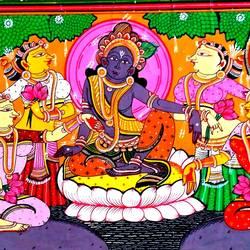 Krishna Rasleela 5 size - 18x12In - 18x12
