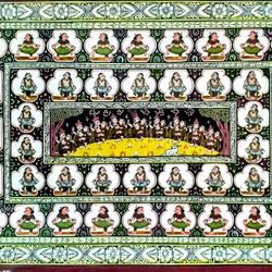 Krishna Rasleela and Sankirtan size - 18x12In - 18x12