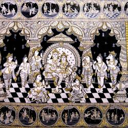 Shri Ram and Sita Ramayan Story size - 40x30In - 40x30