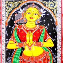 Sakhi or Lady in Welcome Posture 1 size - 24x60In - 24x60