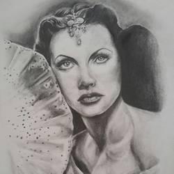 Hedy Lamarr..Brain in a Beauty size - 11.5x16In - 11.5x16