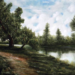 Tranquillity size - 43x34In - 43x34