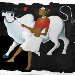 Ankush-the power in hand-4 size - 29x28In - 29x28