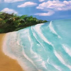 Beach Escape  size - 31.7x20In - 31.7x20