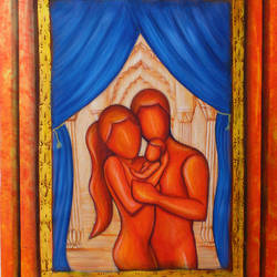 The Couple Love - A family size - 21.5x30.5In - 21.5x30.5