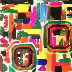 Abstract Art-3: Geometrical Colorful  size - 20x12In - 20x12