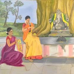 Lord Ganesha size - 30x24In - 30x24