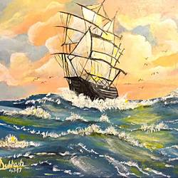 Ship in the wildsea size - 11x8.5In - 11x8.5