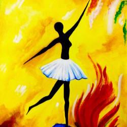 Dancing Girl size - 12x17In - 12x17