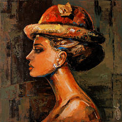 AUDREY...THE BEAUTY UNIVERSE..1 size - 18x18In - 18x18