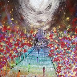 Heavens gate - China  size - 18x24In - 18x24