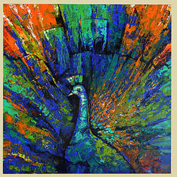 music in colours  size - 18x18In - 18x18