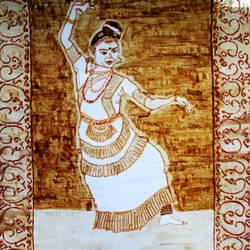 Mohiniyatam dancer size - 9x13.5In - 9x13.5