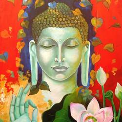Blessing Buddha size - 33x60In - 33x60