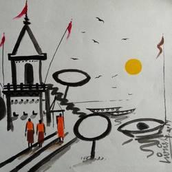 Banaras  size - 11x7In - 11x7