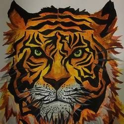 An angry tiger size - 11.69x16.53In - 11.69x16.53