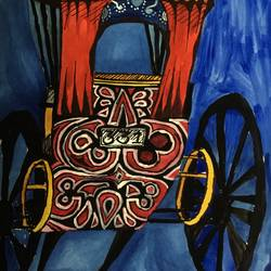 Rickshaw with designs size - 11.69x16.53In - 11.69x16.53