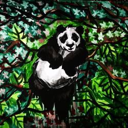 Resting panda size - 11.69x16.53In - 11.69x16.53