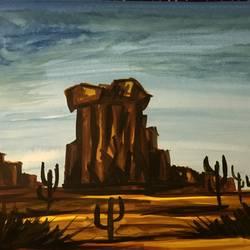 Western Desert size - 11.69x16.53In - 11.69x16.53