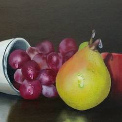 Still life with fruits  size - 22x15In - 22x15