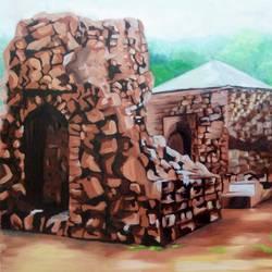 Ruins of Firozabad Delhi size - 30x20In - 30x20