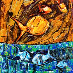 Flow of Dreams 1 size - 18x18In - 18x18