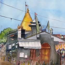 Shirdi Saibaba Temple size - 16.5x12In - 16.5x12