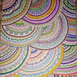 Mandala art size - 11.7x16In - 11.7x16