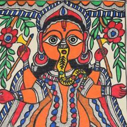 Madhubani size - 7x11In - 7x11