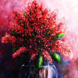 The Red Flowers size - 21x27In - 21x27