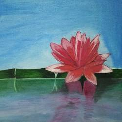 Lotus Flower size - 12x16In - 12x16