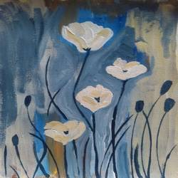 THE WHITE FLOWERS size - 8x10In - 8x10