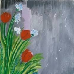 THE FLOWERS OF RAIN size - 10x12In - 10x12