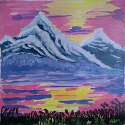 THE HIMALAYAN RANGE size - 12x14In - 12x14