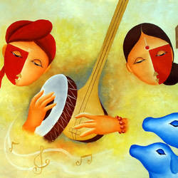Musical Love 3  size - 35x24In - 35x24
