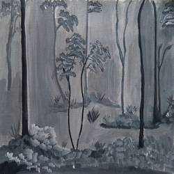 BACK AND WHITE LANDSCAPE size - 16x12In - 16x12