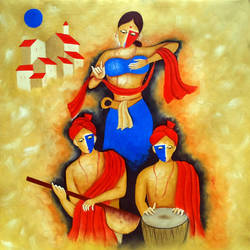 The Indian culture  size - 30x30In - 30x30