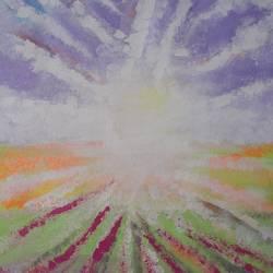 Lavender Sky size - 13.5x19In - 13.5x19