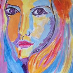 THE GIRL WITH MAKE UP BOX size - 11x13In - 11x13
