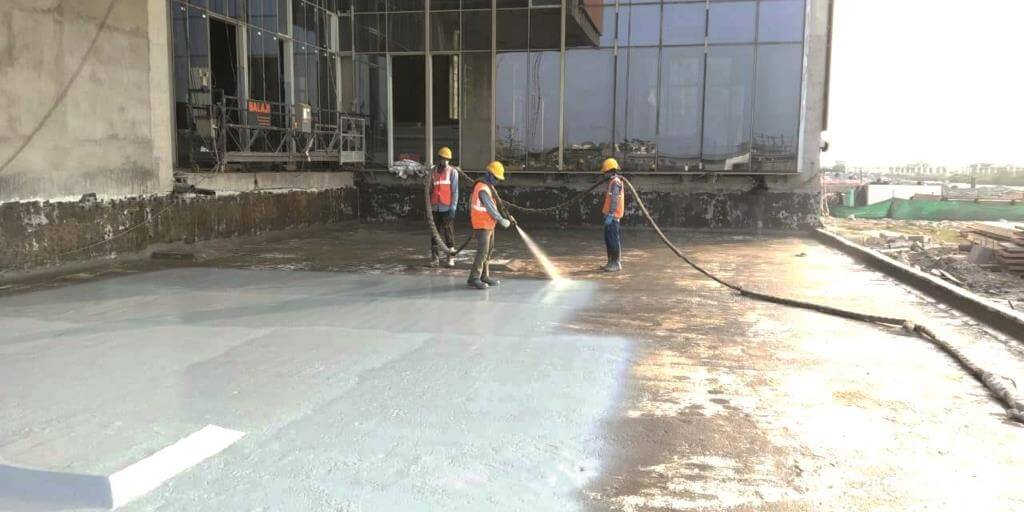 Specialized Waterproofing work at ITC Mixed used Building project