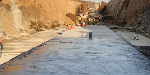 Specialized Waterproofing for expansion work of hyderabad international AIrport