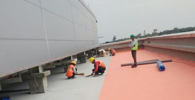Specialized Waterproofing work for pharmaceutical plant