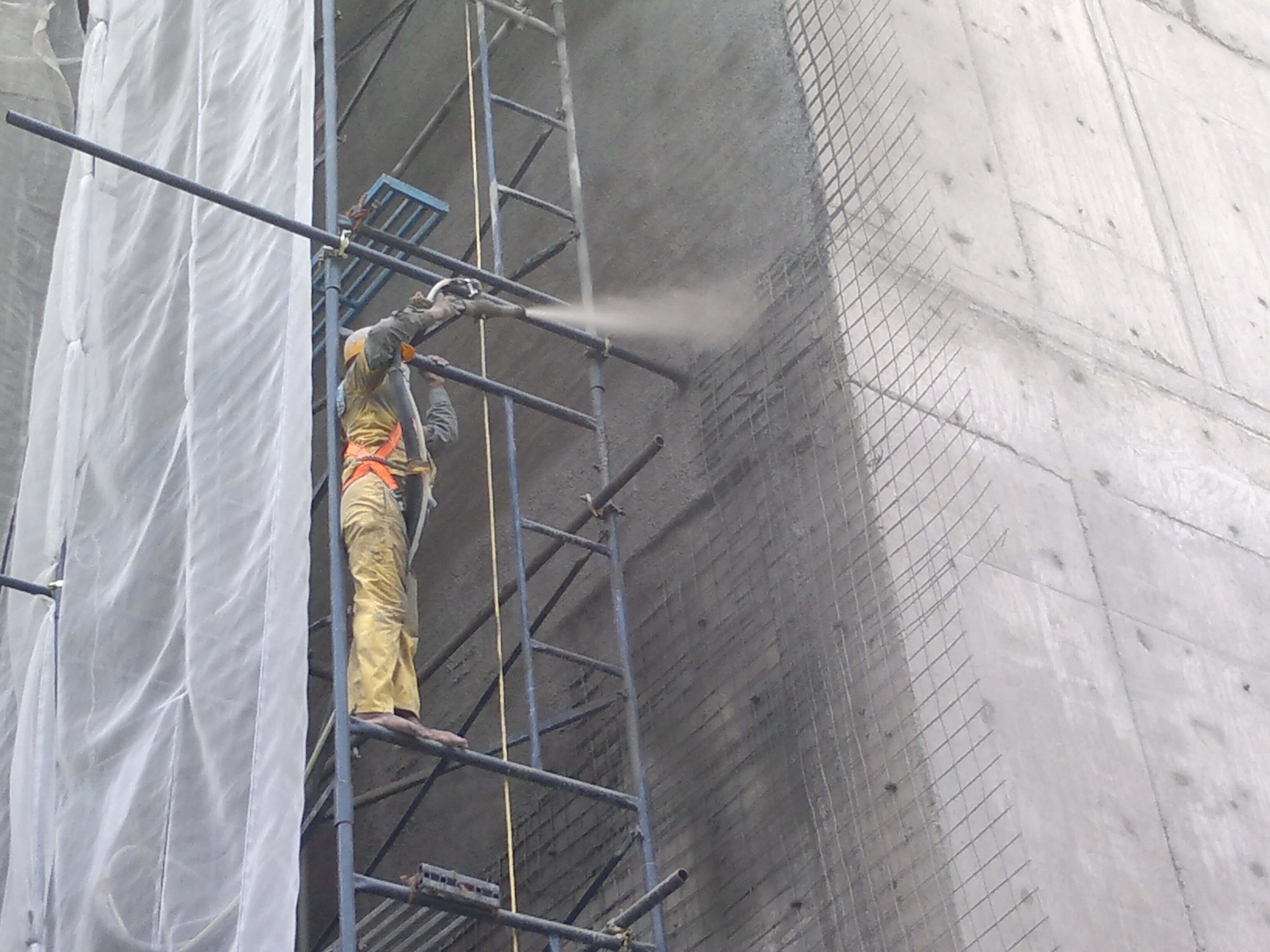 Facade Improvement works of 105m Height Kopal Niwas Building