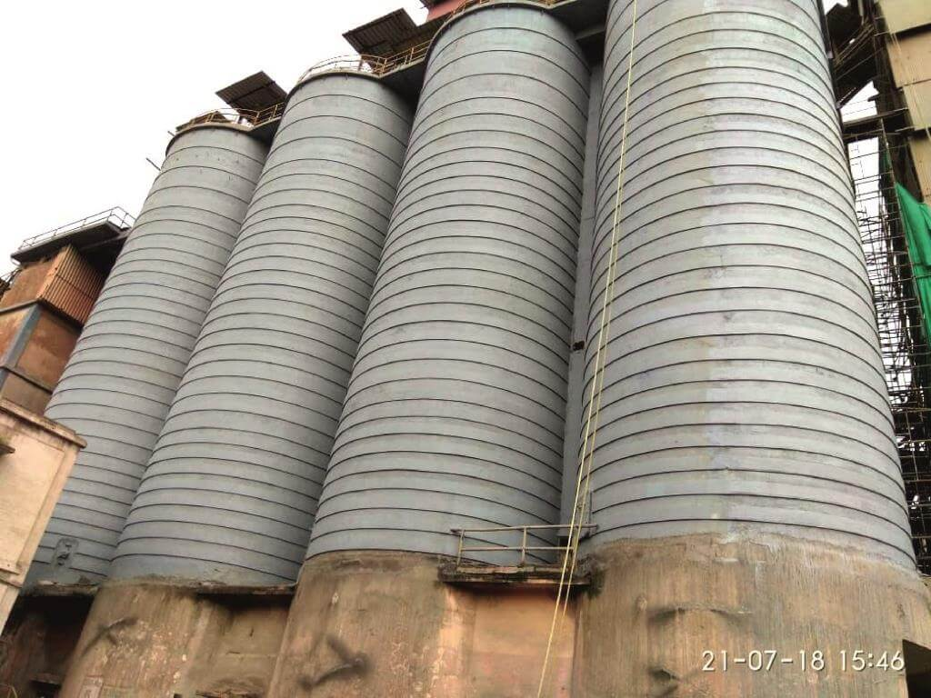Structural Strengthening work of 16 no.s of Silo Structures